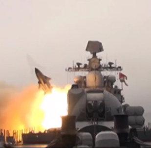 在日本海上發射「蚊子」巡航導彈的視頻流出