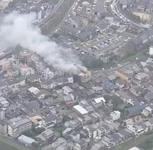 日本京都動畫工作室發生火災