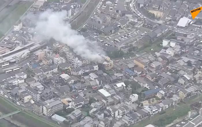 日本京都动画工作室发生火灾