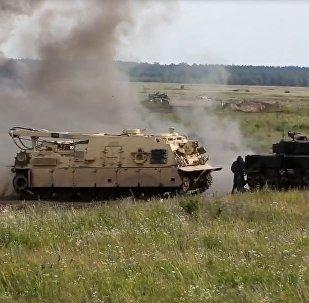 「史詩級戰鬥」:北約在波蘭邊境模擬坦克戰