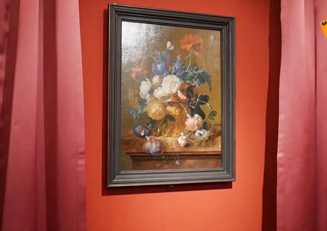 海瑟姆油画作品《花瓶和花》回归意大利