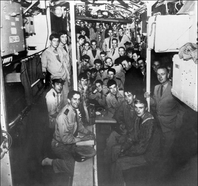 """法国""""智慧女神""""号潜艇1968年1月失踪时搭载有52名船员"""