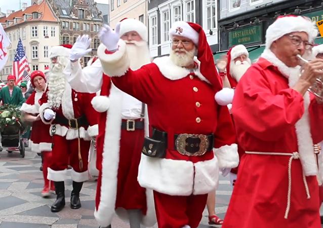丹麥舉行世界聖誕老人大會