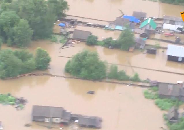 俄阿穆爾州洪災已進入緊急狀態