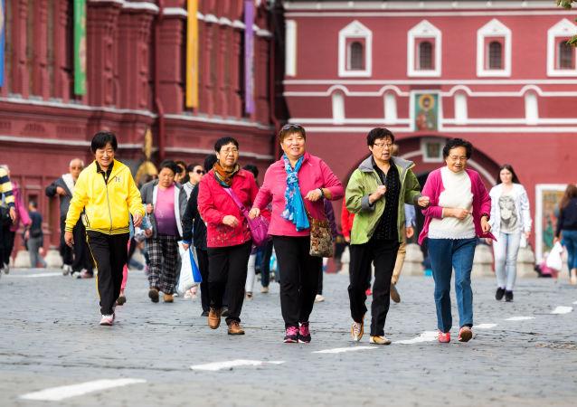 紅場上的中國遊客