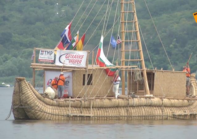 德探险队效仿古埃及人乘芦苇船横渡黑海