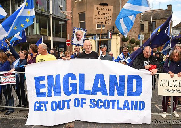 民调:多数苏格兰民众支持脱离英国