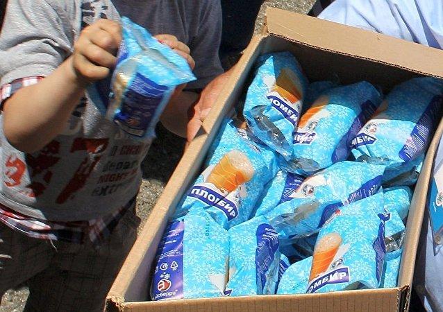 冰激凌在克里米亚