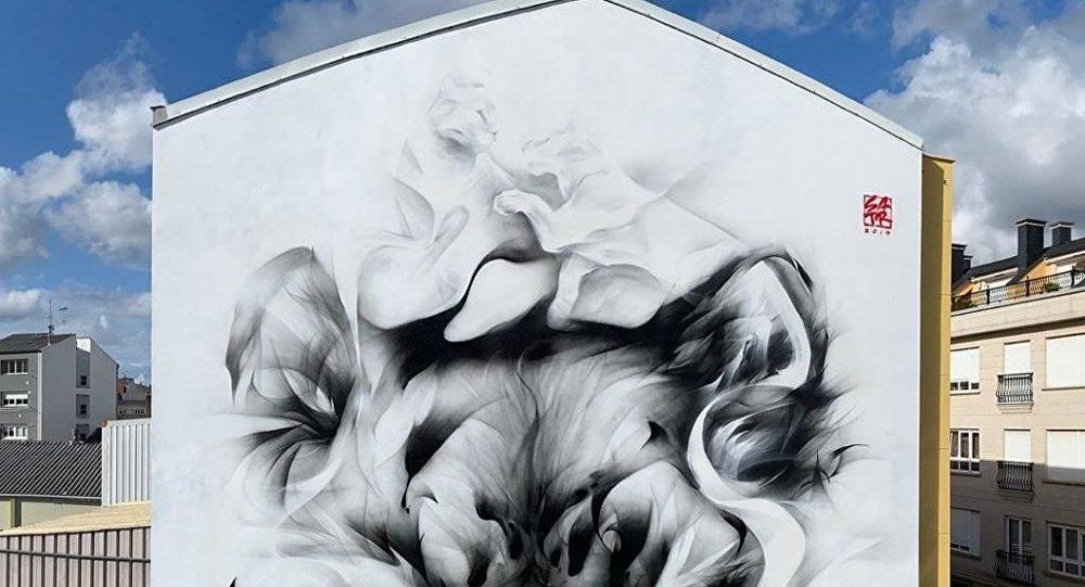 中国风涂鸦将点缀莫斯科郊区高层住房外墙