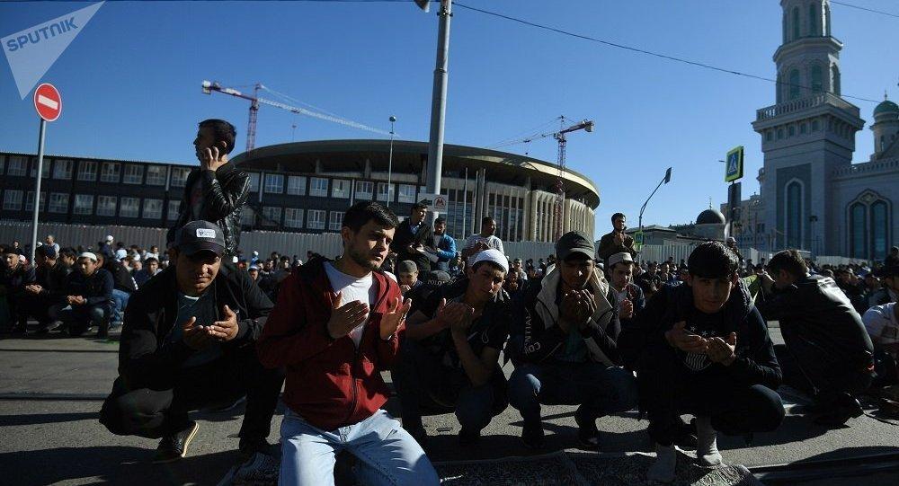 穆斯林庆祝伊斯兰教的主要节日之一古尔邦节