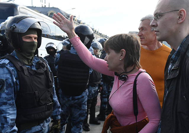 莫斯科的示威