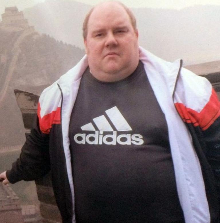 一名英国人为爬长城一年内减肥95公斤