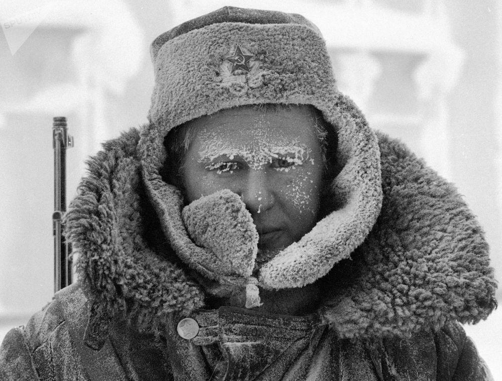 北极圈边境的哨兵。1982年。