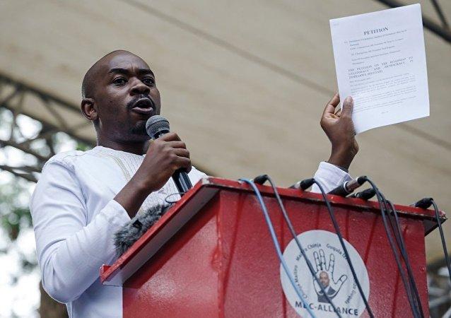 津巴布韋反對黨爭取民主變革運動黨(MDC)領導人查米薩
