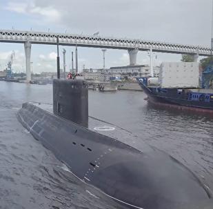 太平洋舰队首艘636.3型潜艇完成工厂测试