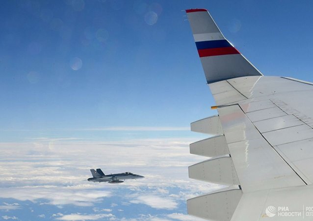 瑞士战斗机护送普京代表团乘坐的飞机