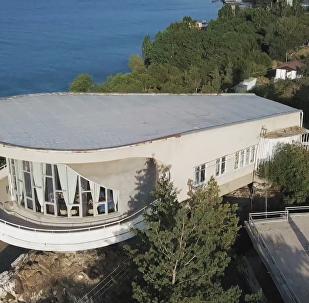 亚美尼亚作家协会位于塞凡湖的疗养院