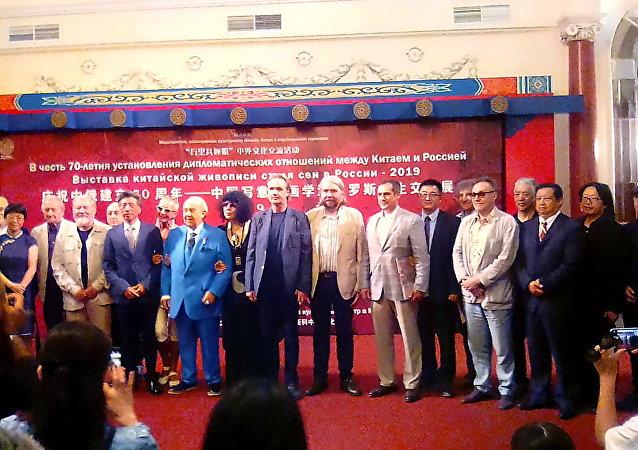 中国写意油画学派俄罗斯写生交流展在莫斯科文化中心开幕