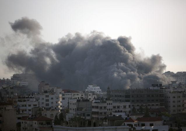 以军方对加沙地带的空袭(资料图片)
