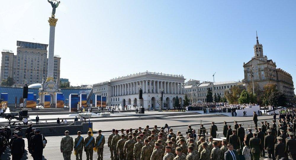 乌克兰前总统没有出席基辅举行的乌克兰独立日庆祝活动