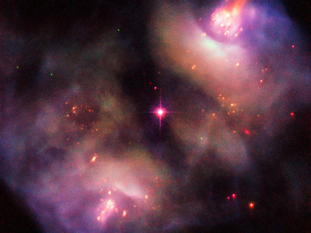 哈勃空間望遠鏡拍到一個垂死的恆星