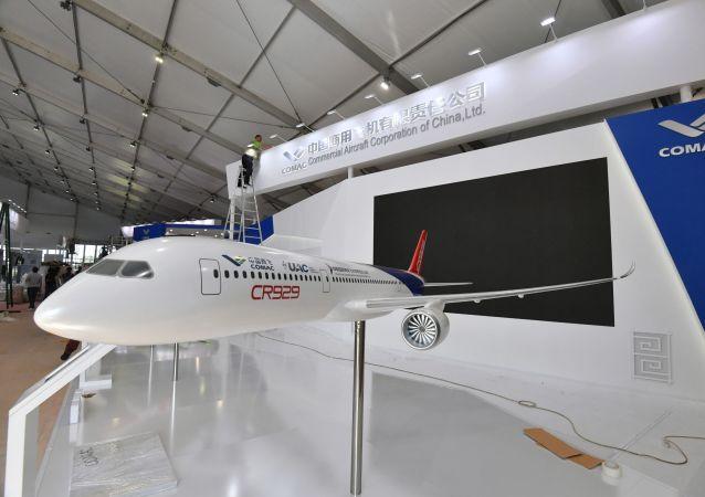 中国商飞公司:中俄CR929宽体客机首次亮相莫斯科航展