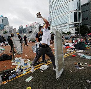 香港行政長官回應示威者有關釋放所有被捕人士的要求:有違香港法治精神