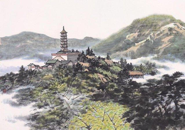京藝術家書畫展在莫斯科開幕