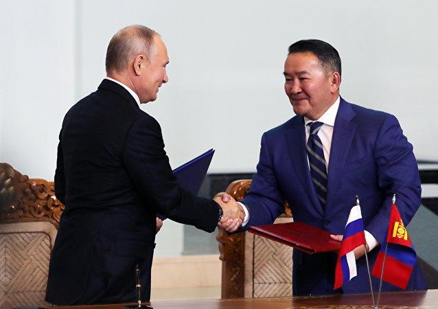 普京:友谊与互助是俄蒙关系的基础