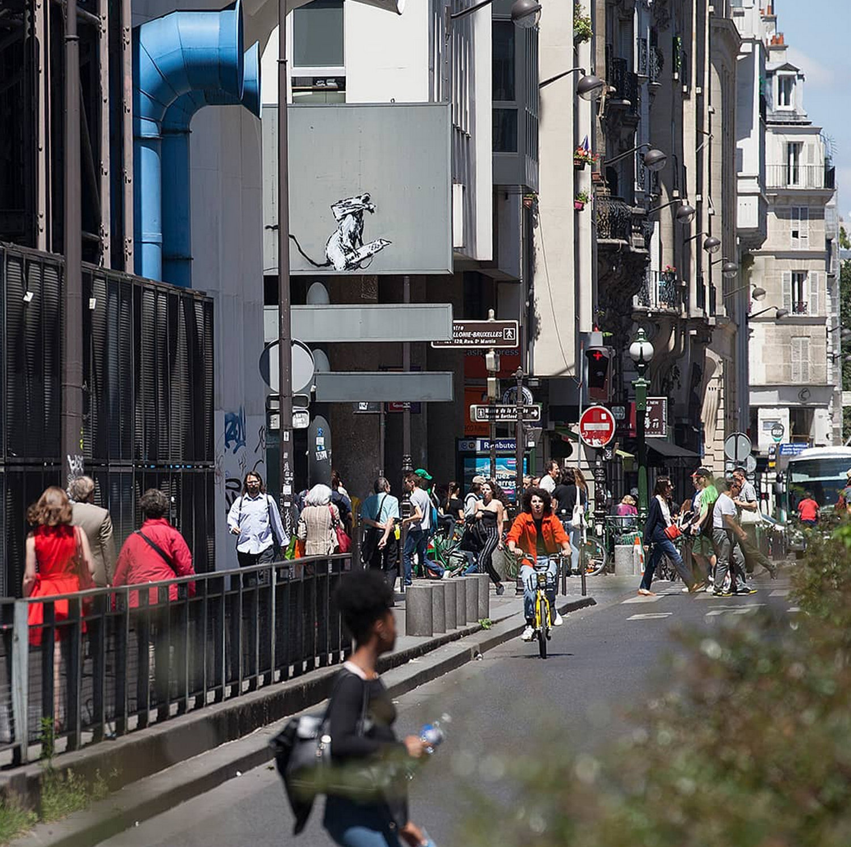 英國街頭藝術家班克西作品在巴黎被盜