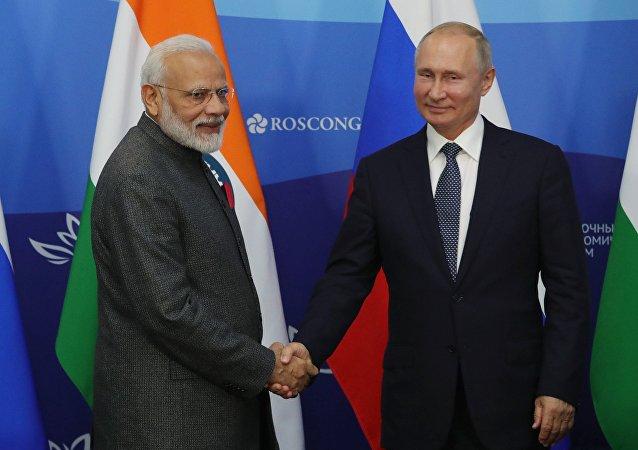普京在與莫迪的會面上討論了俄印協議及聯合項目的執行情況