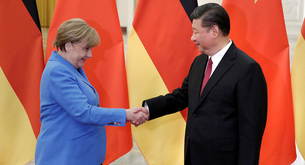 Канцлер Германии Ангела Меркель и председатель КНР Си Цзиьпин