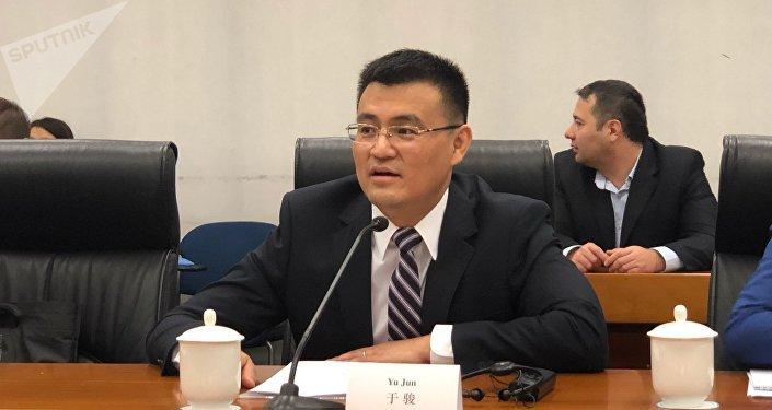 中国外交部欧亚司参赞于骏