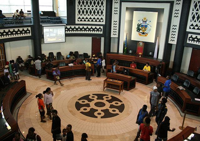 所罗门群岛首都霍尼亚拉的议会