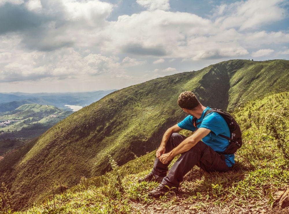 巴西山脈中的遊客