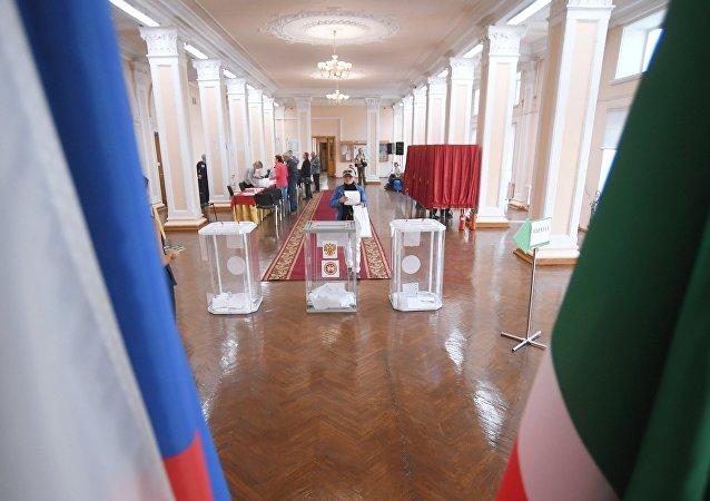 莫斯科市杜马选举投票站关闭