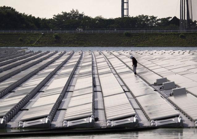日本最大太阳能发电站山仓水库