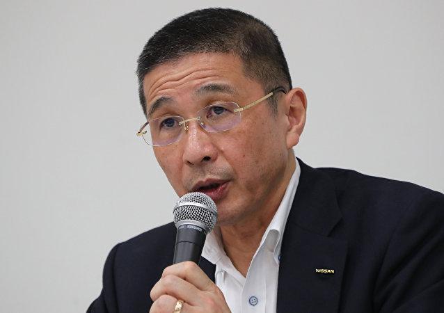 日产汽车社长兼首席执行官(CEO)西川广人(Hiroto Saikawa)