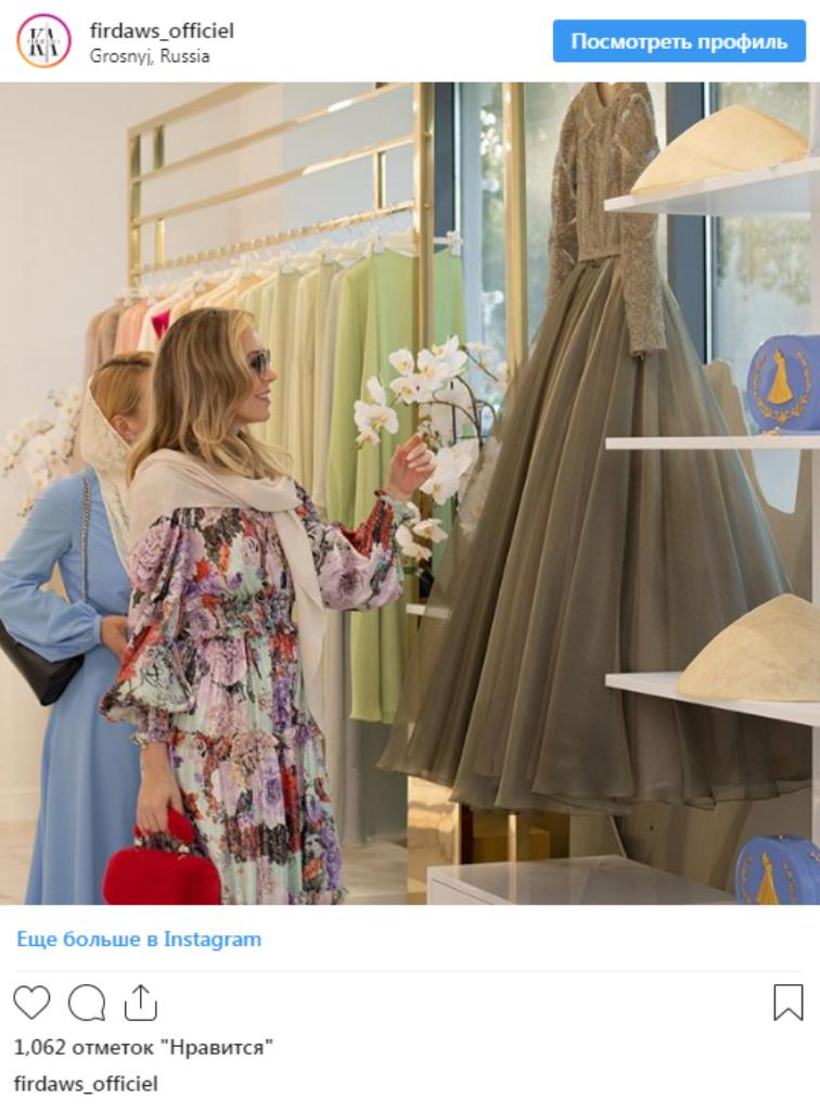 卡德罗夫女儿的时装品牌进驻莫斯科