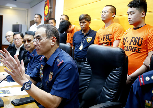 菲律宾羁押中国籍非法移民(资料图片)
