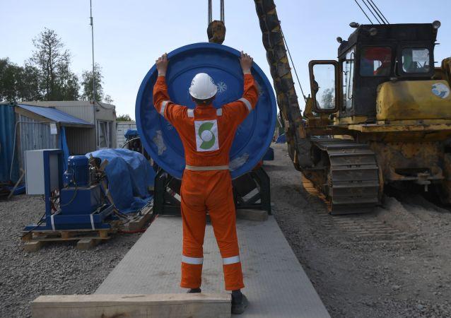 """""""北溪-2""""号项目的天然气管道"""