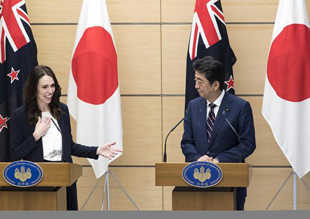 新西兰总理在访问日本把日本和中国两国弄混