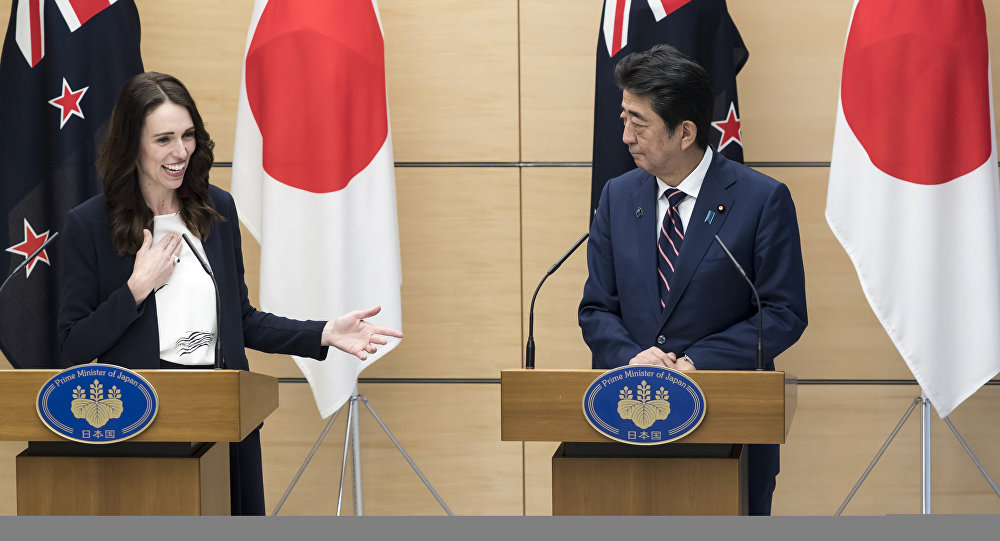 新西蘭總理在訪問日本把日本和中國兩國弄混