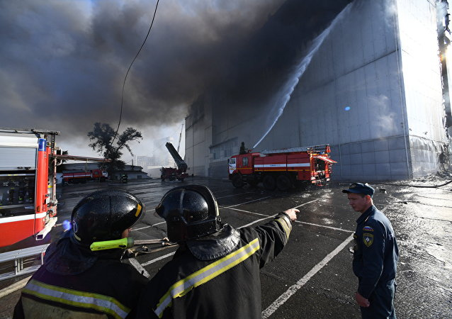 俄符拉迪沃斯托克商場火災或因咖啡廳瓦斯罐爆炸引起