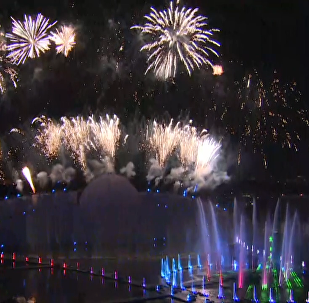莫斯科「光環」燈光節開幕