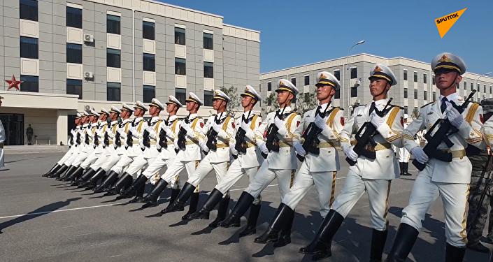 中国国庆70周年阅兵演练