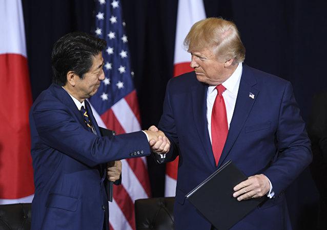 特朗普與安倍在聯大會議期間簽署美日貿易協議