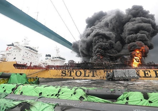 俄使館:蔚山港貨輪火災船上10名俄公民均已疏散未受傷