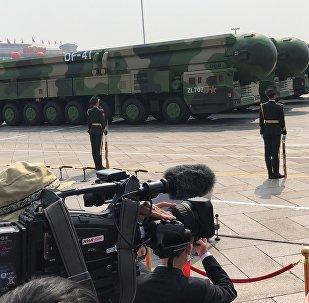 """中国""""东风-41""""洲际弹道导弹在庆祝新中国成立70阅兵式阅兵首次出场"""