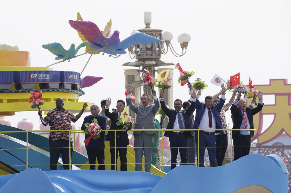 出席中国70周年国庆阅兵的外宾。